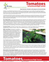 Tomatoes (Greenhouse/High tunnel) – Integrated Soil & Plant